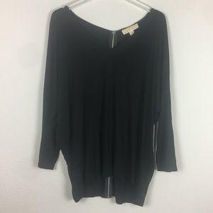 Michael Kors | Black V-Neck Long Sleeve Blouse XL